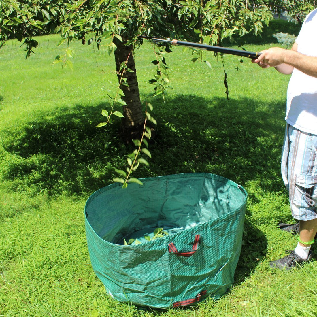 SUNWIN Lawn and Leaf Bags Garden Reusable Leaf Bag Yard Lawn Gardening Waste Bag 63 Gallons by Sunwin (Image #1)