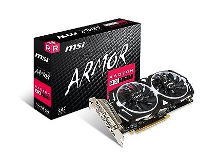 MSI RX 570 ARMOR 8G OC Gaming 256-Bit 8gb Gdrr5 Directx Graphics Card
