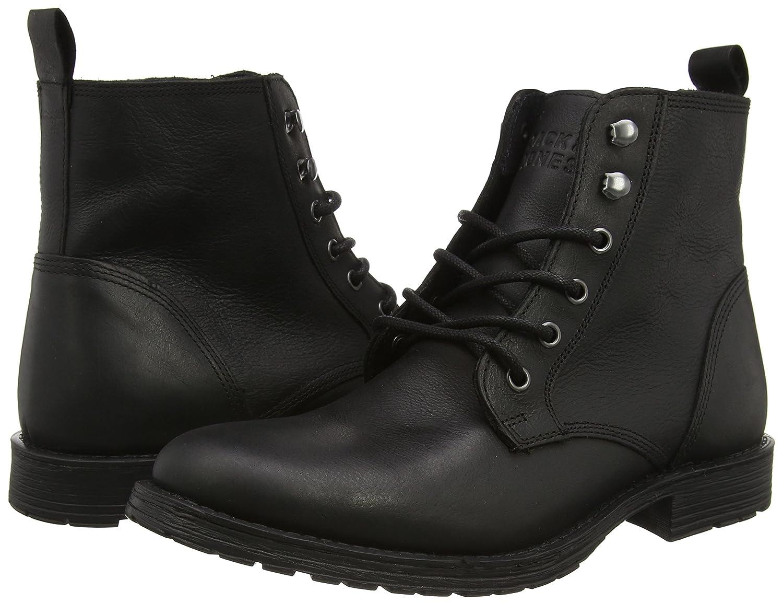 387eb67970 Botas de Otra Piel Hombre Color Negro Talla 42 12094705 Jack   Jones  Jjcrust Leather Boot 1 ...