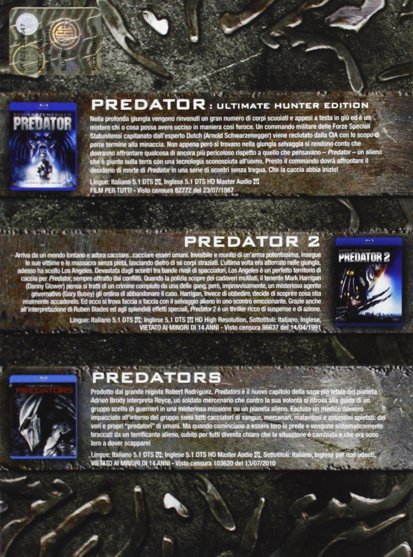 Predator - La Trilogia Ltd CE 3 Blu-Ray+Maschera Italia Blu-ray: Amazon.es: Maria Conchita Alonso, Alice Braga, Adrien Brody, Gary Busey, Elpidia Carrillo, ...