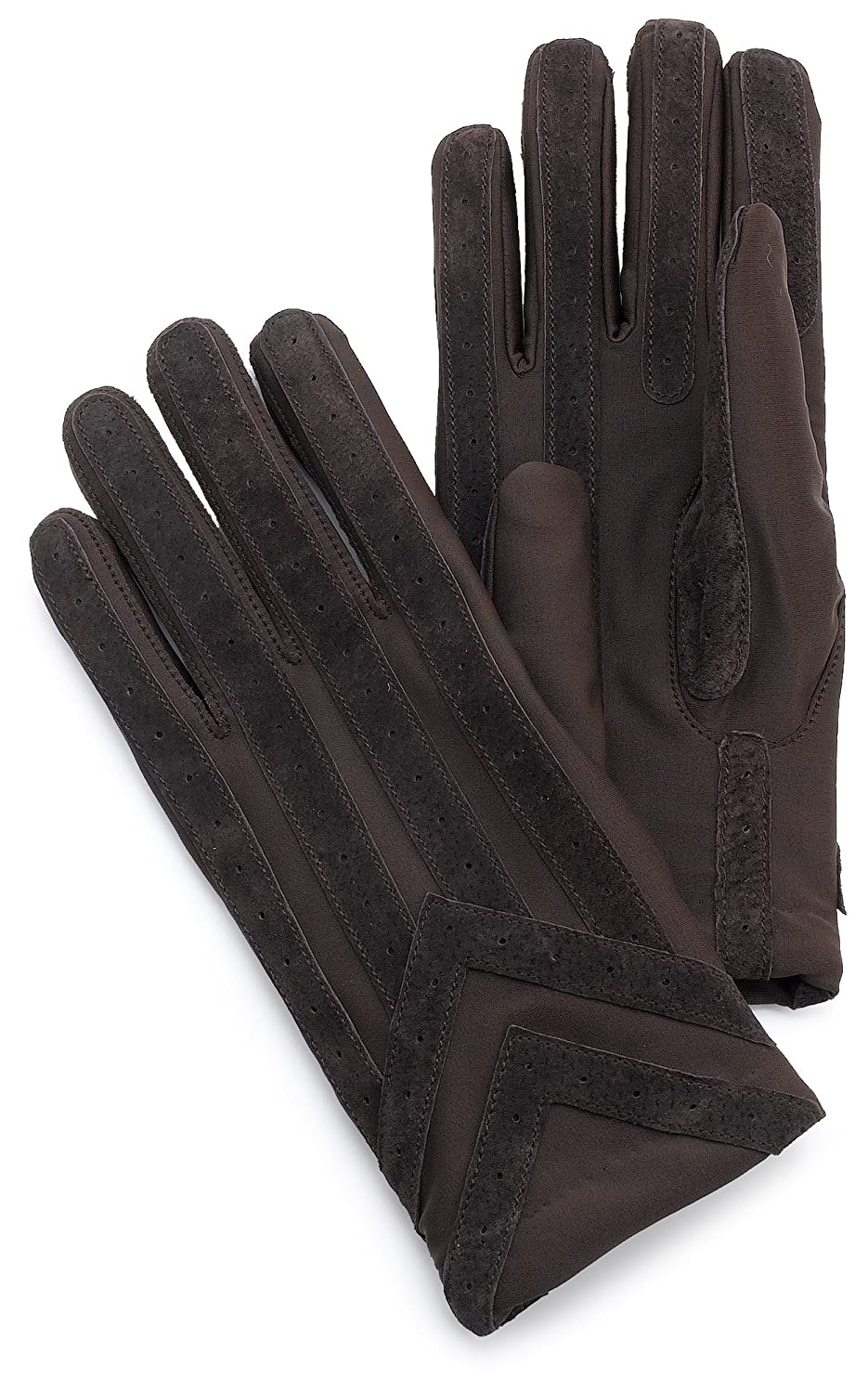 Isotoner womens leather gloves with fleece lining - Isotoner Men S Spandex Glove With Suede Palm Strips Brown Medium Large At Amazon Men S Clothing Store Cold Weather Gloves