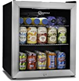 Subcold Super50 LED – Mini Fridge Black   49L Beer, Wine and Drinks Fridge   LED Light + Lock and Key   Low Energy A+ (Stainless Steel)