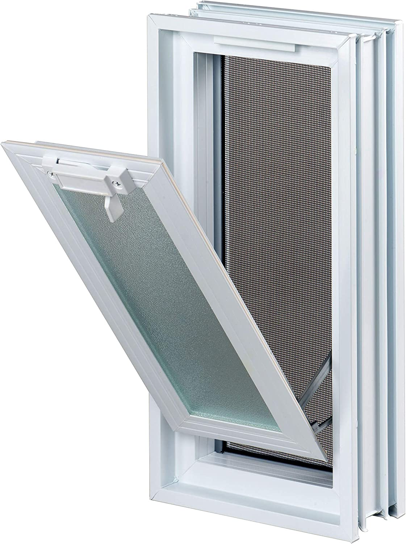 189x384mm en lugar de 2 bloques de cristal 19x19x8 cm vertical Ventana practicable: para el montaje en la pared de bloques de vidrio