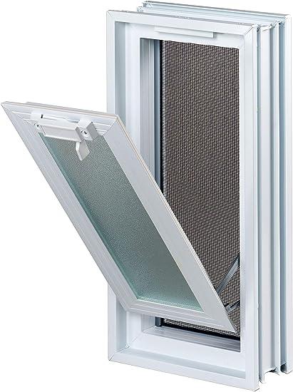 Ventana practicable: para el montaje en la pared de bloques de vidrio - 189x384mm, en lugar de 2 bloques de cristal 19x19x8 cm, vertical: Amazon.es: Bricolaje y herramientas