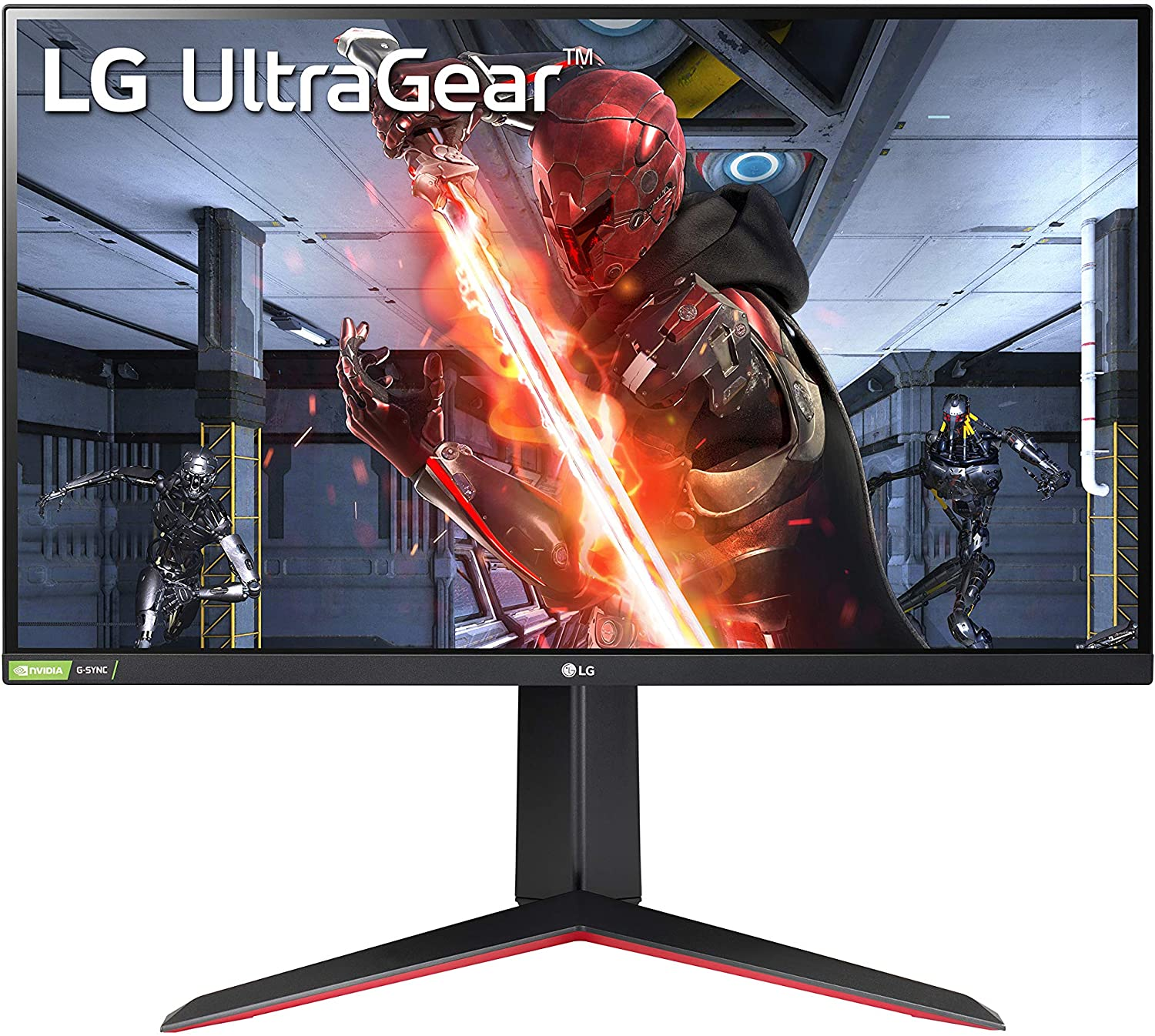 """LG 27GN650-B 27"""" Ultragear Full HD (1920 x 1080) IPS Gaming Monitor with 144Hz Refresh Rate with 1ms NVIDIA G-SYNC Compatible with AMD FreeSync Premium and Tilt/Height/Pivot Adjustable Stand, black"""