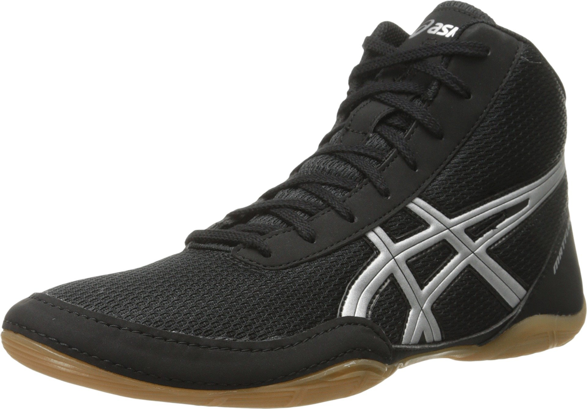 ASICS Men's Matflex 5 Wrestling Shoe, Black/Silver, 12 M US