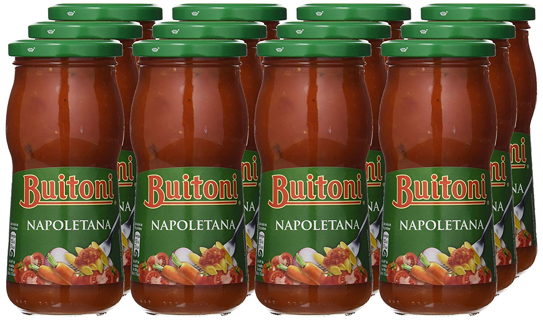 Buitoni Salsa De Tomate Napolitana, Frasco - Paquete de 12 x 400 g - Total: 4.8 kg: Amazon.es: Alimentación y bebidas