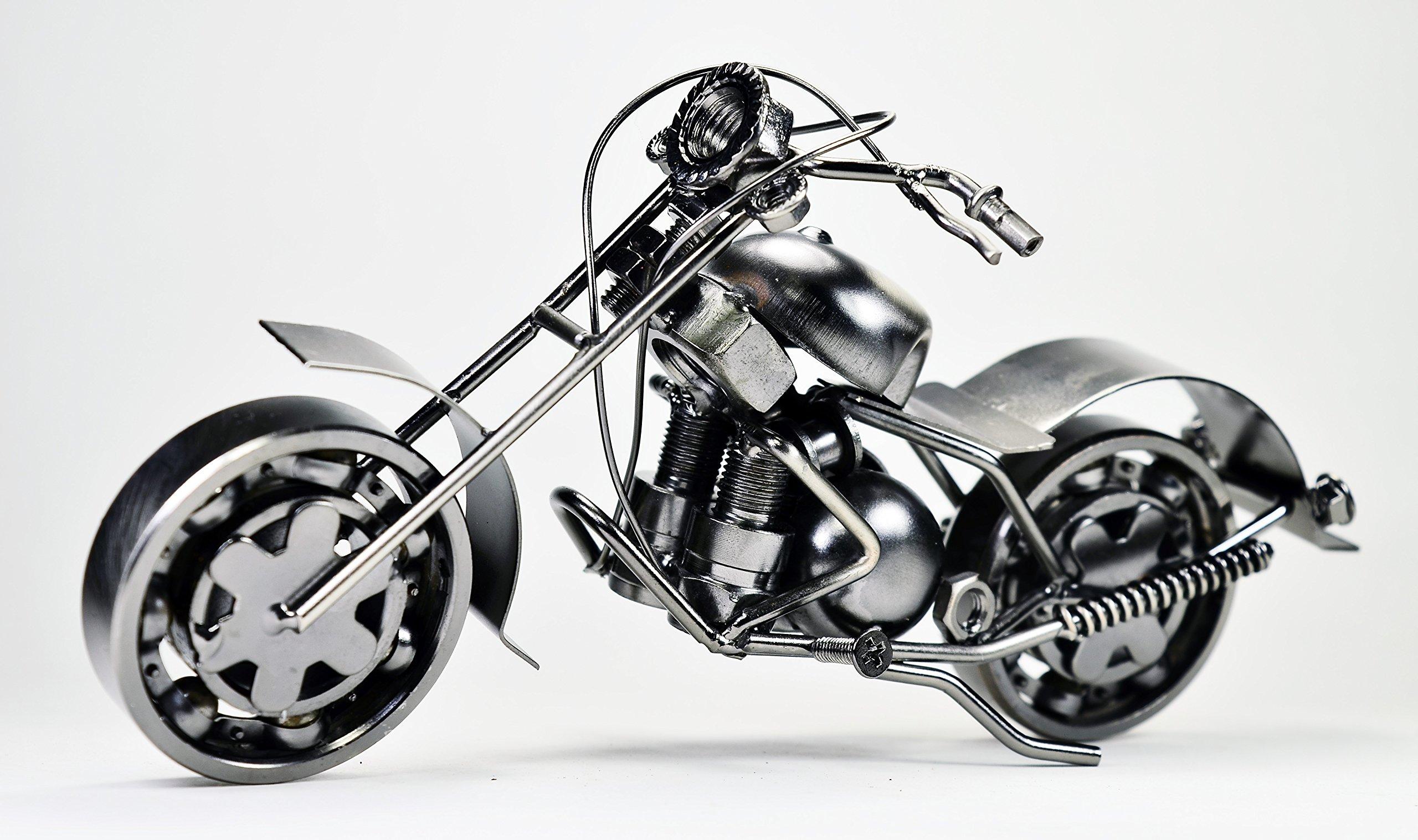 Harley Davidson Metal Sculpture Retro Classic Handmade Iron Motorcycle Model ET01C