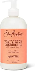 SheaMoisture Curl and Shine Conditioner for Thick, Curly Hair Coconut and