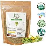 Just Jaivik 100% Organic Lemongrass Tea - Cut and Sifted for Tea Blends- USDA certified organic - Suitable for Tea Blend as Tea Ingredient