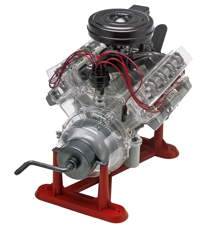 amazon com revell 85 8883 1 4 visible v 8 engine plastic model kit rh amazon com 1 2 Scale V8 Engines RC Car V8 Engine