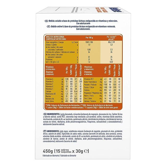 MERITENE de Nestlé Health Science - FUERZA Y VITALIDAD Batido Fresa - Estuche (15x30g)