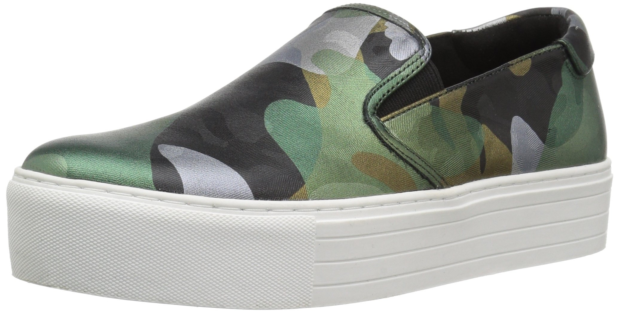 Kenneth Cole New York Women's Joanie Platform Slip Techni-Cole 37.5 Lining Sneaker, Green/Multi, 5 Medium US