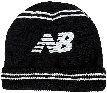 New Balance Lifestyle Knitted Beanie Hat Black  Amazon.co.uk  Clothing 7fc56bfbafe