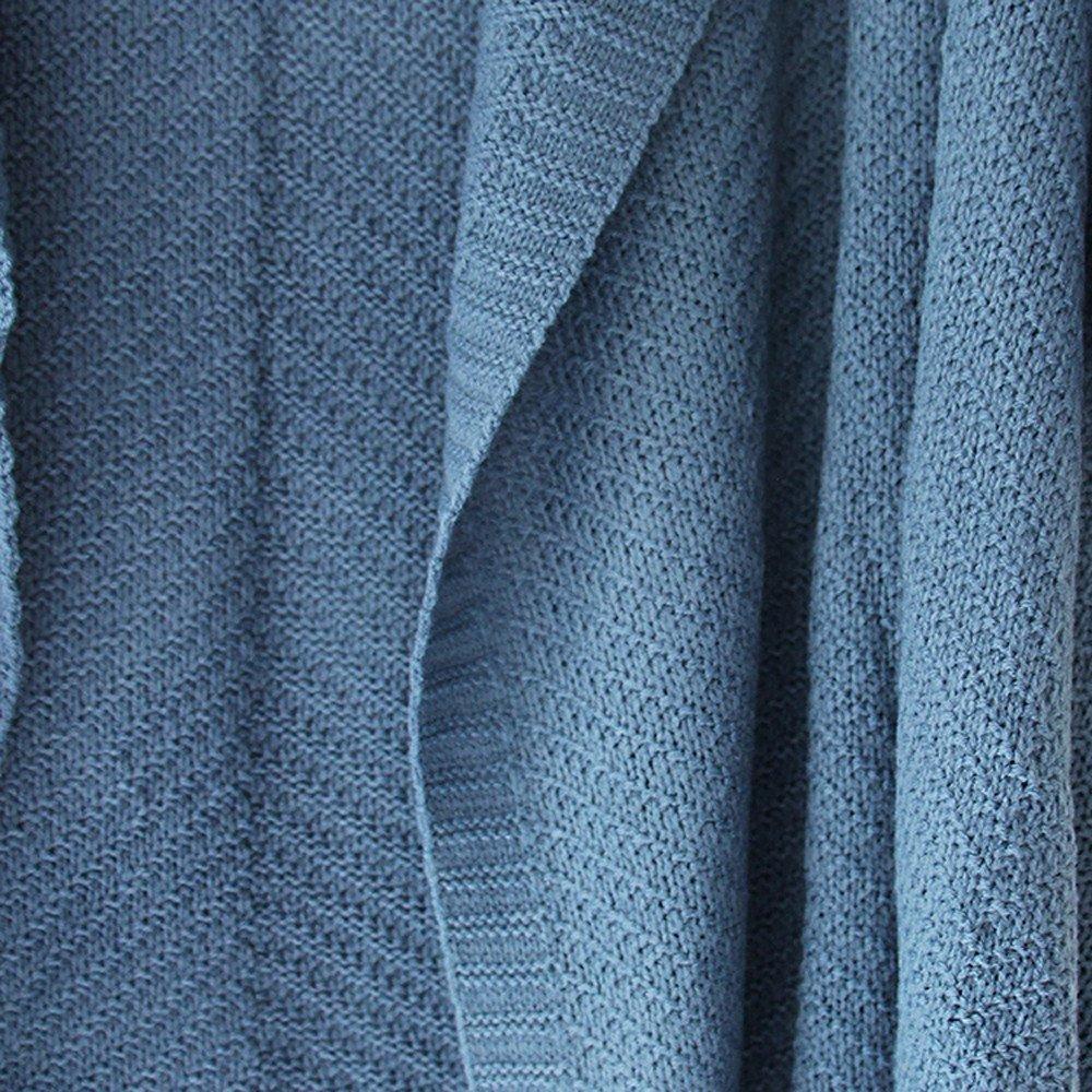 VJGOAL Mujer Otoño e Invierno Moda Casual Color sólido Manga de Batwing Manga Larga de Gran tamaño Suelta de Punto Solapa Suéter Cardigan Outwear Abrigo(Un ...