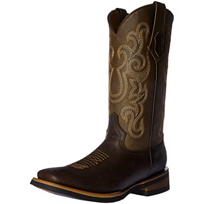 Ferrini Men's Maverick Chocolate Square Toe Western Boot: Shoes