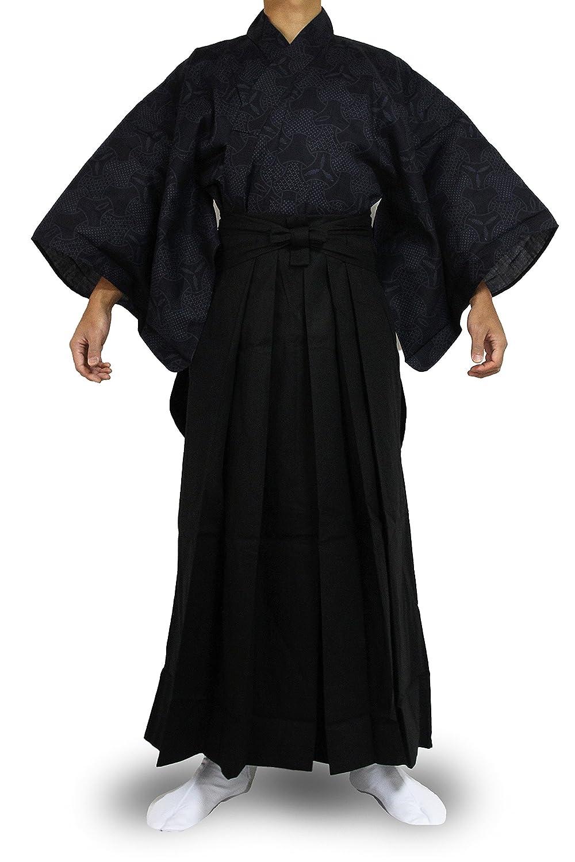 3NVBlack Edoten Japanese Samurai Hakama Uniform