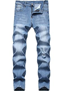 a23429020f2 FREDD MARSHALL Men's Skinny Slim Fit Stretch Straight Leg Fashion Jeans  Pants