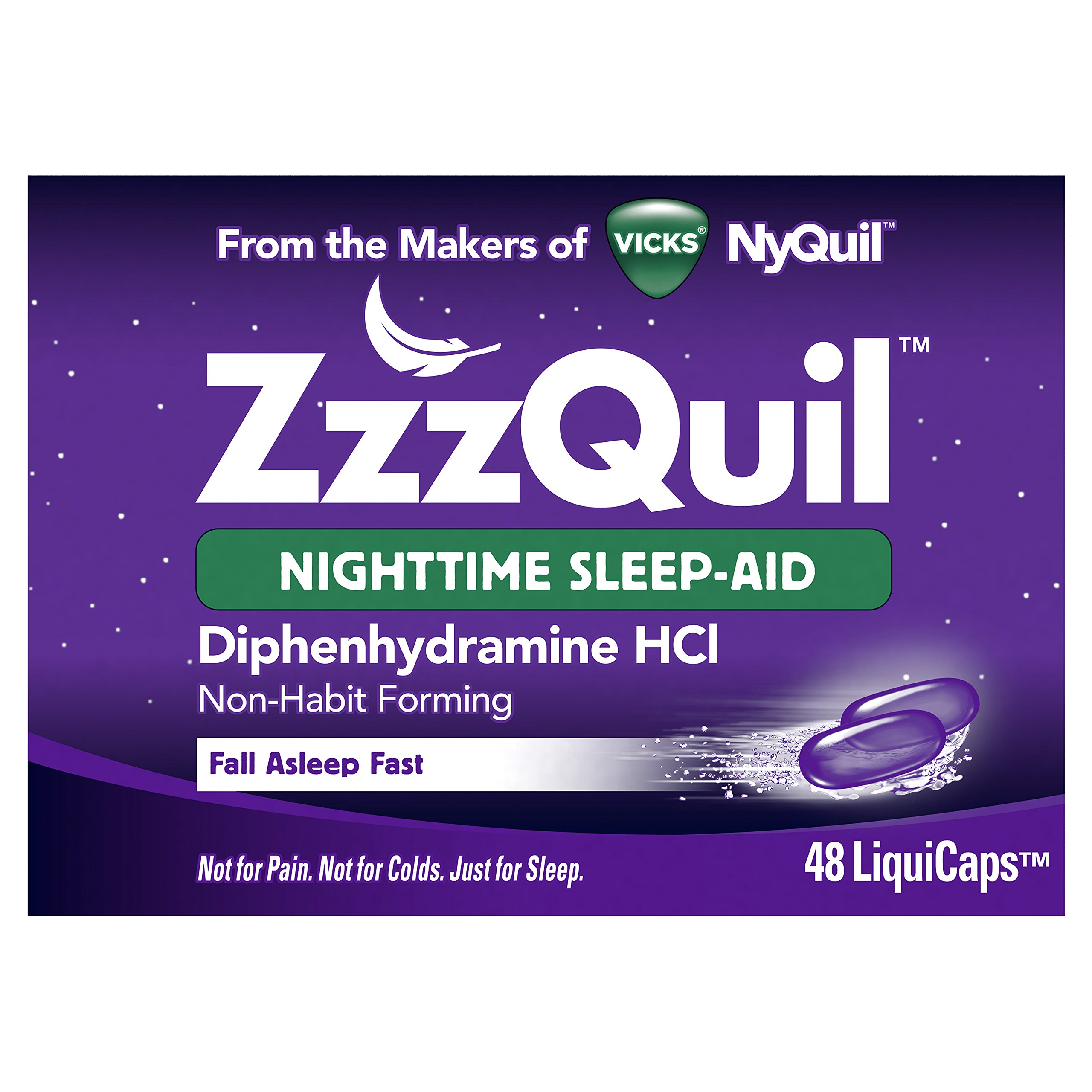 ZzzQuil Nighttime Sleep Aid, 48 LiquiCaps