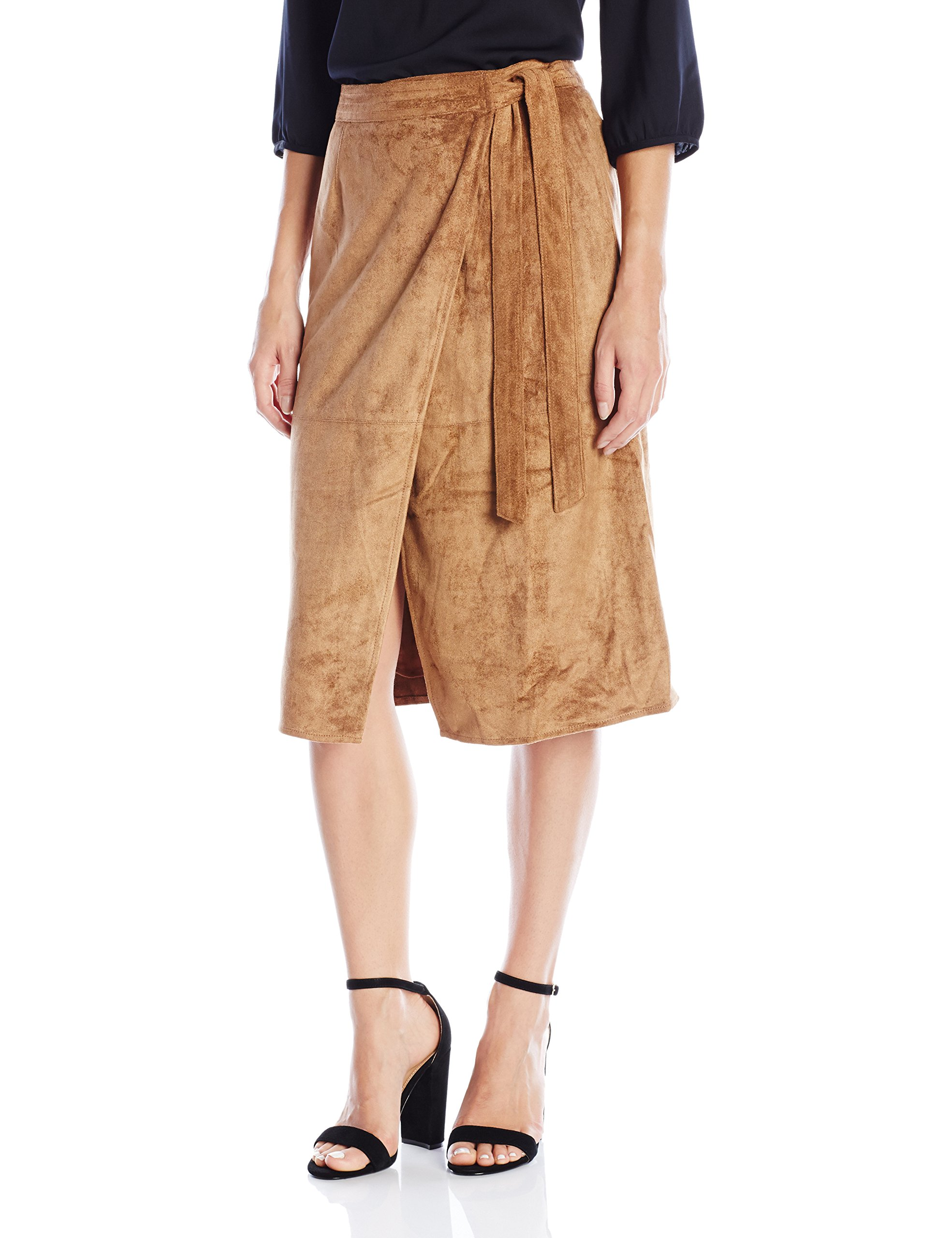 ASTR the label Women's Harriet Faux Suede Skirt, Camel, X-Small