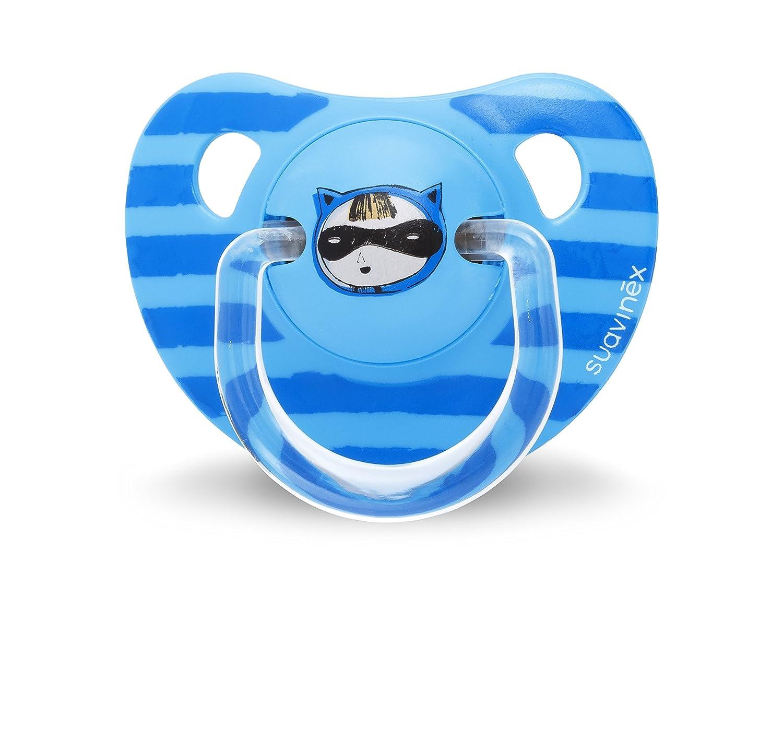 Suavinex 303299 - Chupete anatómico látex, 2 unidades, 6-18 meses, color azul