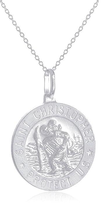 2b51e81858f6 Amazon.com  Sterling Silver Saint Christopher