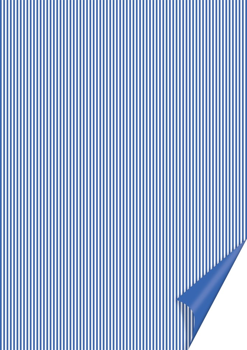 20 FOGLI in cartoncino A4 stampato a righe blu e bianche x SCRAPBOOKING
