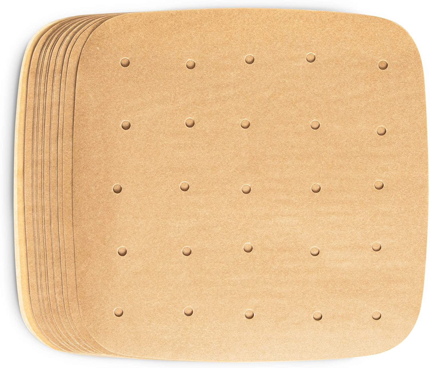 Air Fryer Liners, Unbleached Parchment Paper (8.5 x 8.5 In, 200 Pack)