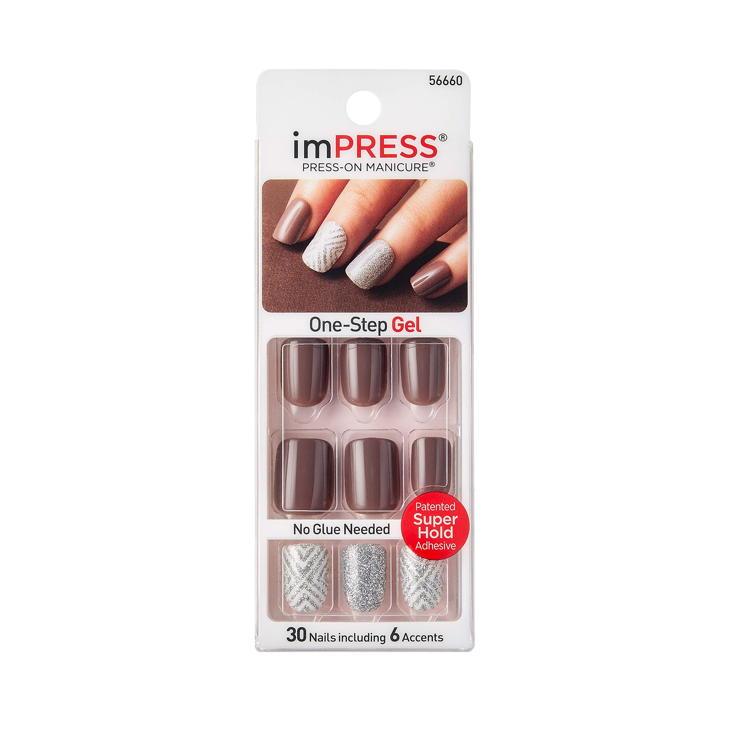 Impress Press-On Manicure Ultra Gel Shine - Ecstatic Cling (BIP100) by Impress