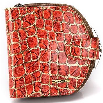 Wewod Bolso de Embrague Mujer/Bolso de Mano Elegante/Tarjeteros Cuero/Billeteras para Mujer 10.5 x 10.5 x 3.5 cm (L * H* W) (Rojo): Amazon.es: Equipaje