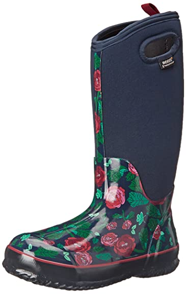 Amazoncom Bogs Womens Classic Rose Garden Tall Winter Snow