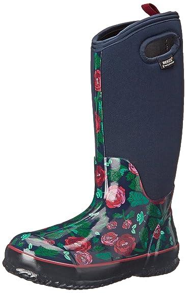 Amazoncom Bogs Womens Classic Rose Garden Tall Winter Snow