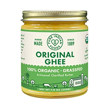 Grassfed Organic Ghee 7 8 Oz - Pure Indian Foods(R) Brand