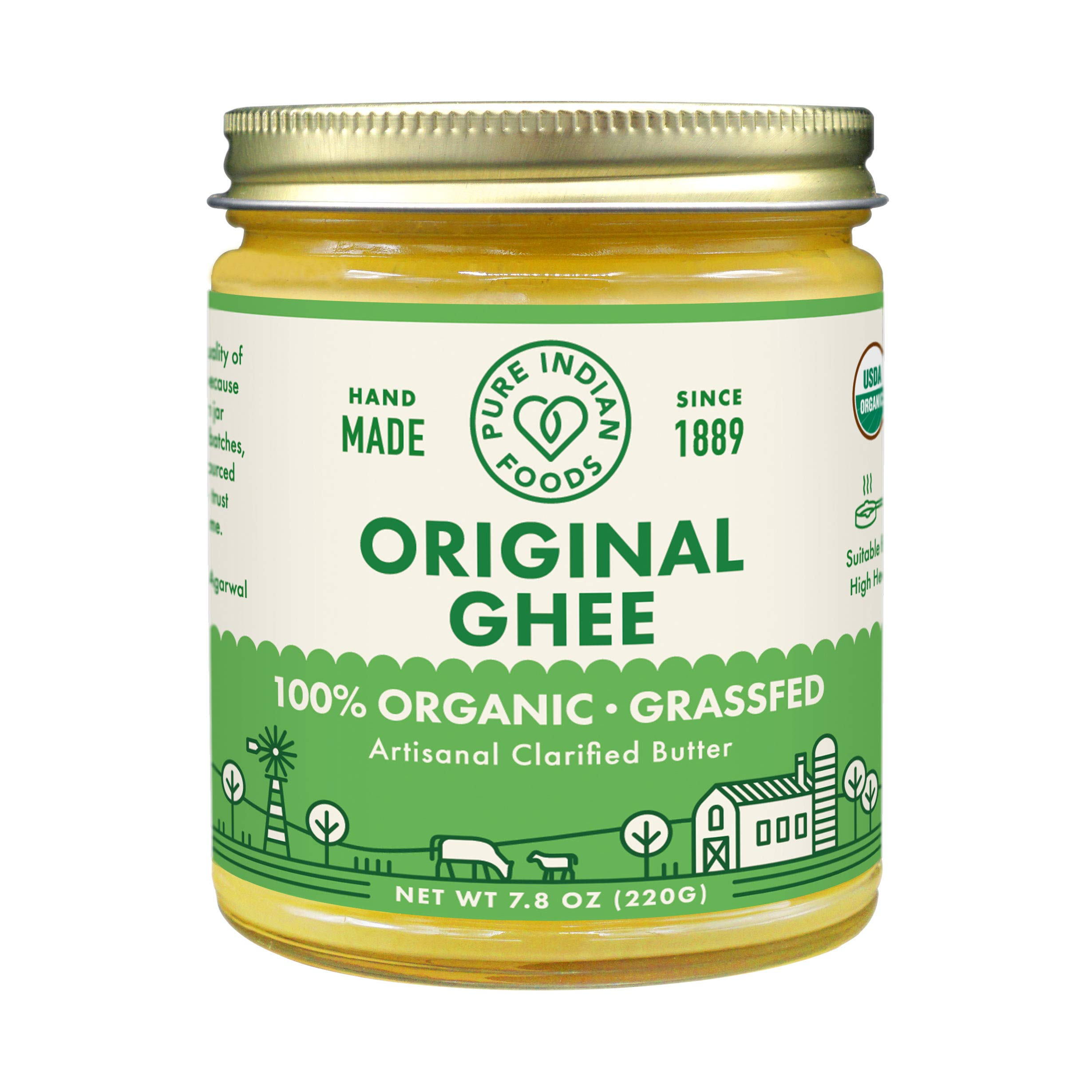 Grassfed Organic Ghee 7.8 Oz - Pure Indian Foods Brand (2-Pack) by Pure Indian Foods (Image #1)