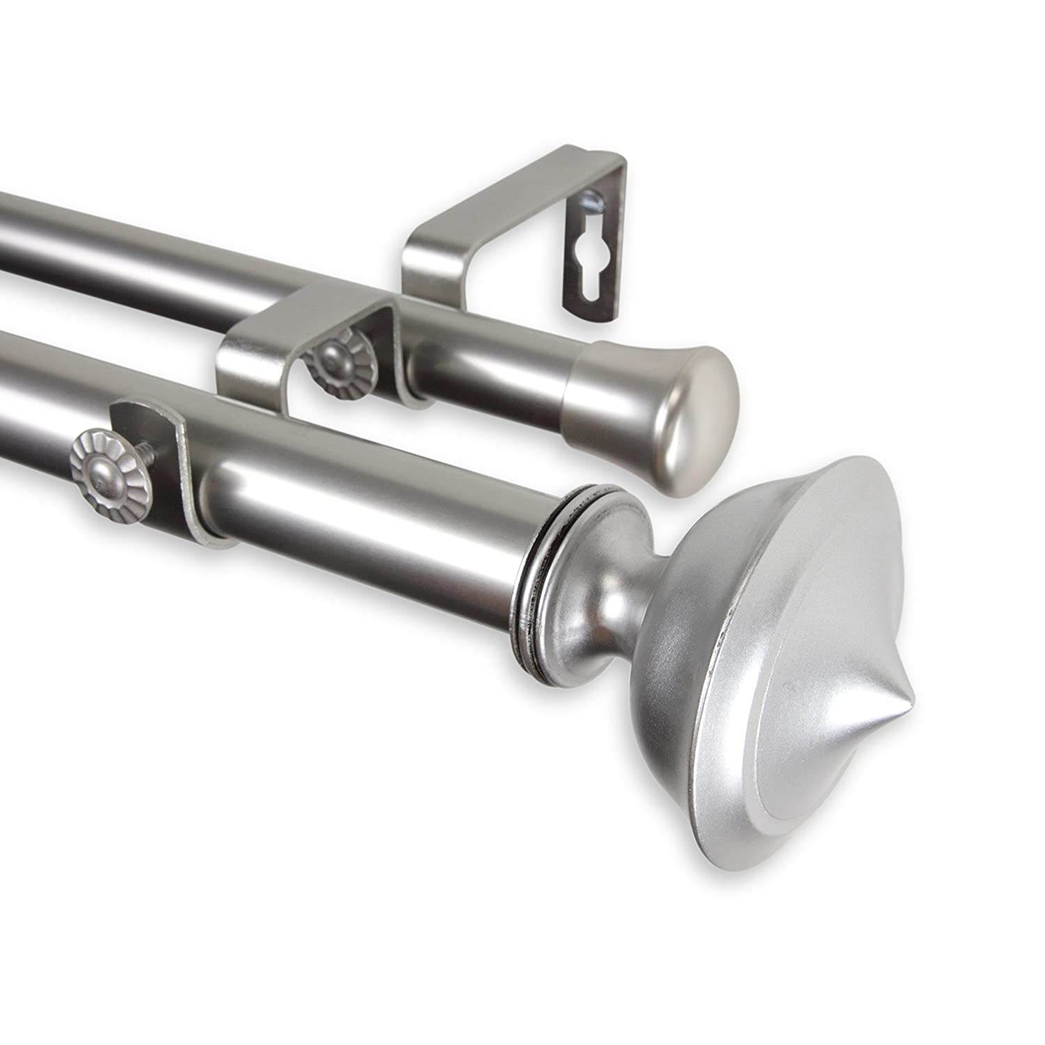 Leopold Double Curtain Rod 120-170 inch - Satin Nickel   B00ZE6A280