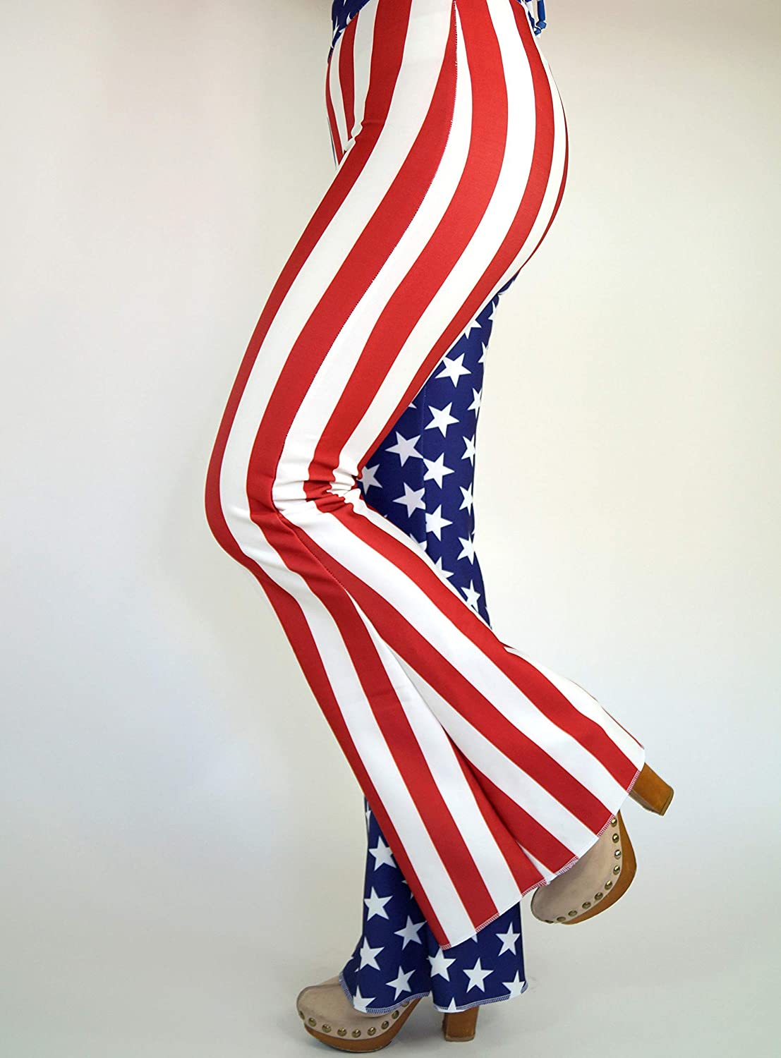 USA flag Bell bottoms//American Flag bell bottoms//4th July//Festival pants//Plus size bell bottoms//Patriotic flare pant//Gifts//Women leggings