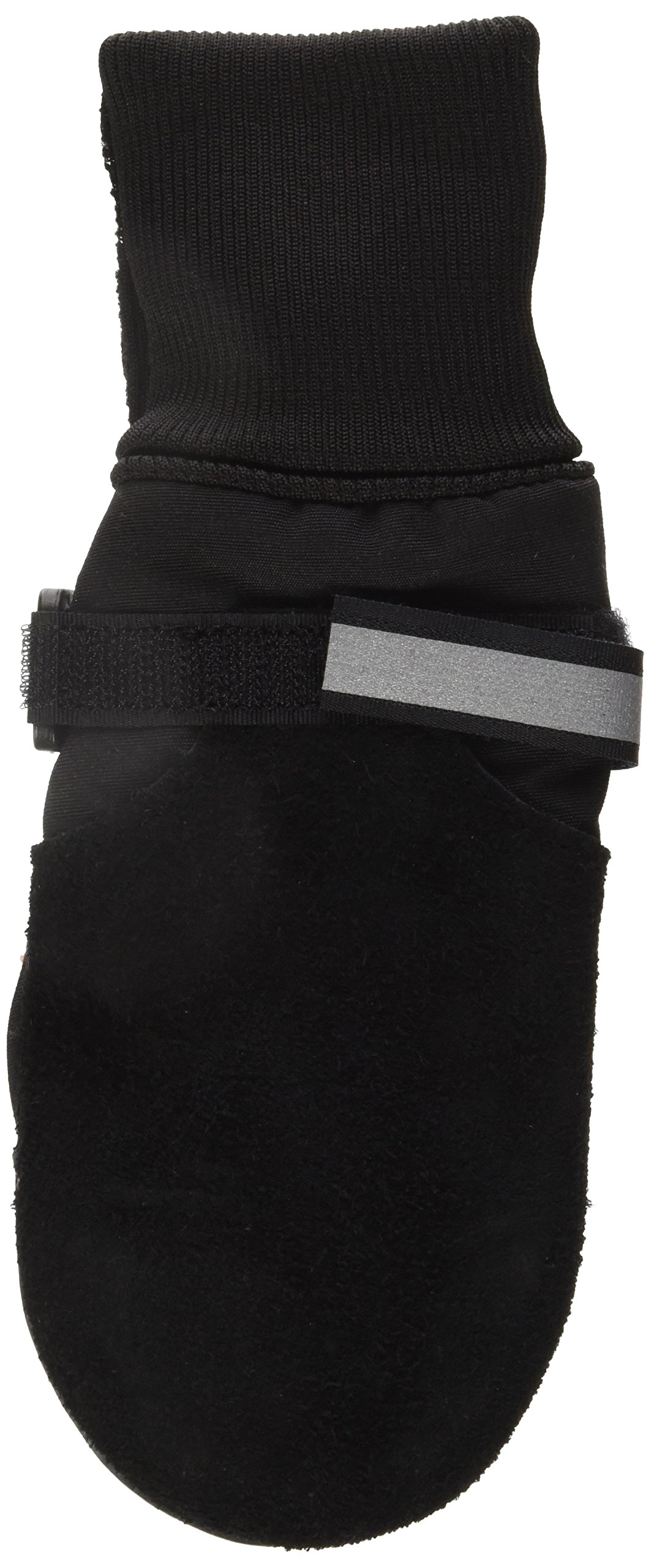 Muttluks Fleece Lined Muttluks Dog Boots - Set of 4, Large (3.75 to 4.25 inch), Black by Muttluks