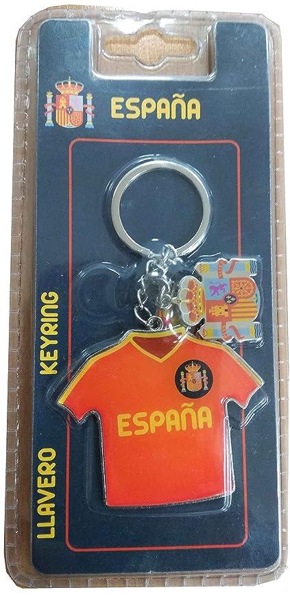Llavero Camiseta Fútbol de España: Amazon.es: Equipaje