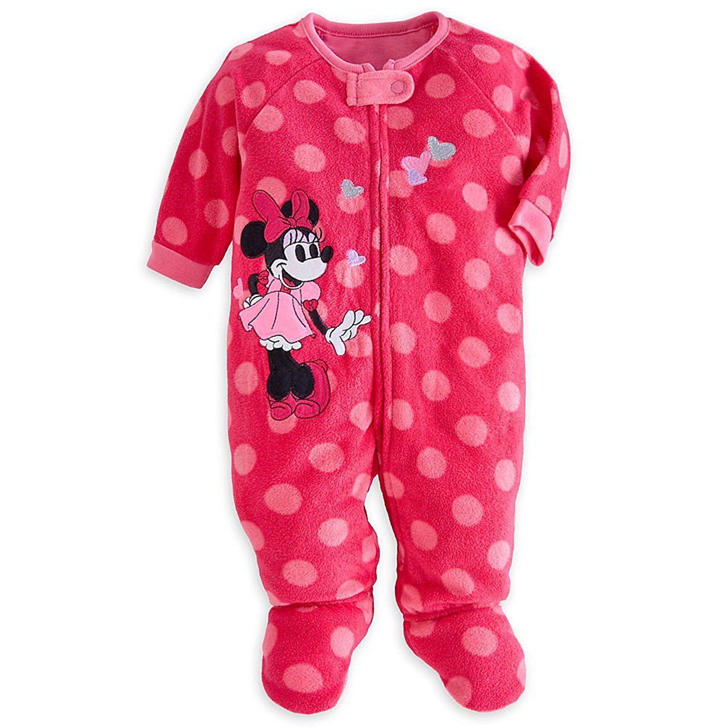4678f9c53424 Amazon.com  Disney Store Minnie Mouse Pink Footed Blanket Sleeper ...