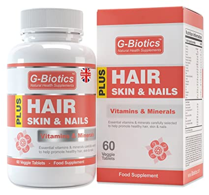 Vitaminas para el Cabello, Piel y Uñas de G-Biotics ~ Suplemento EXTRA de