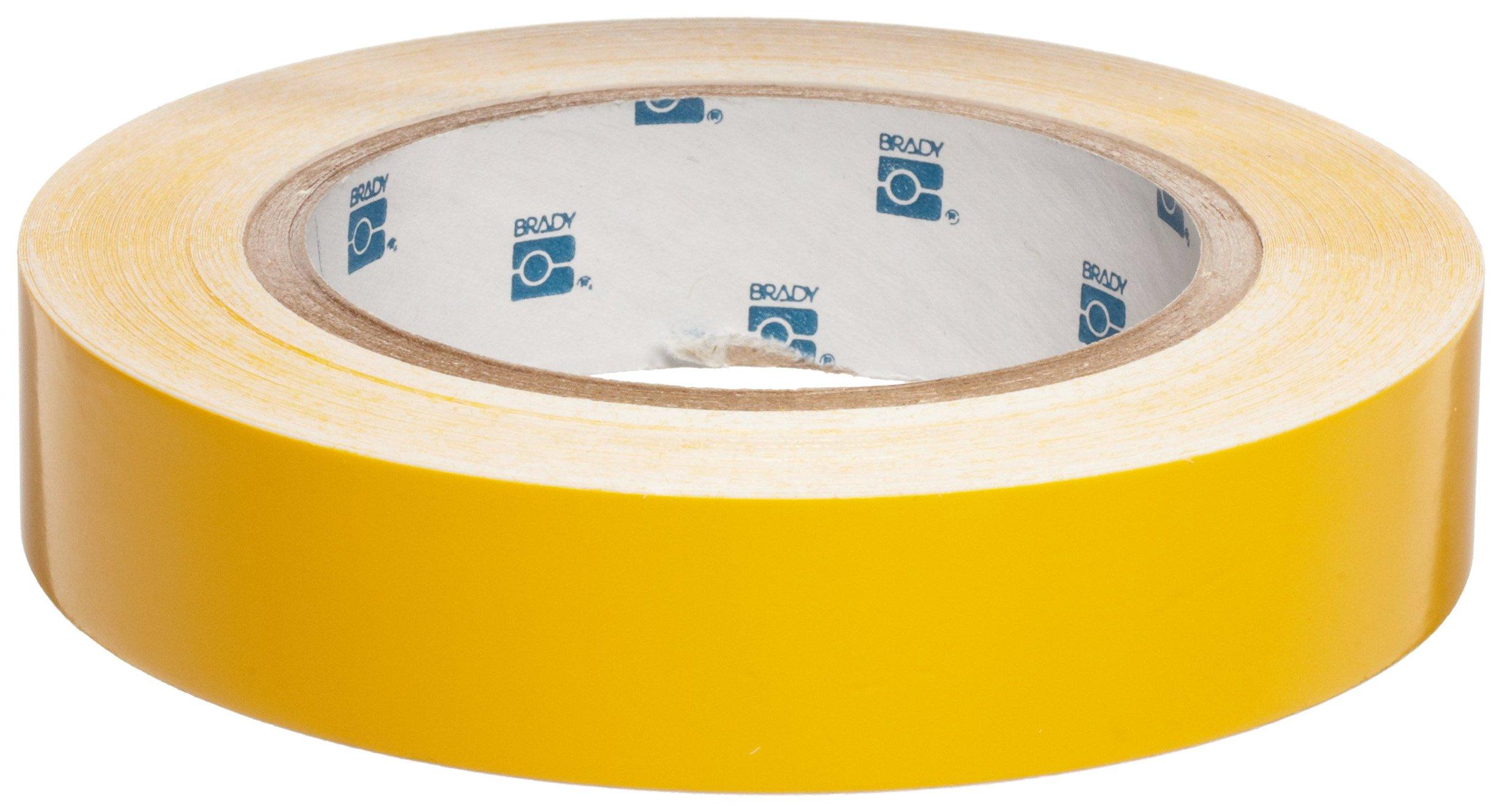 Brady 36301 90' Length, 1'' Width, B-946 High Performance Vinyl, Yellow Color Pipe Banding Tape