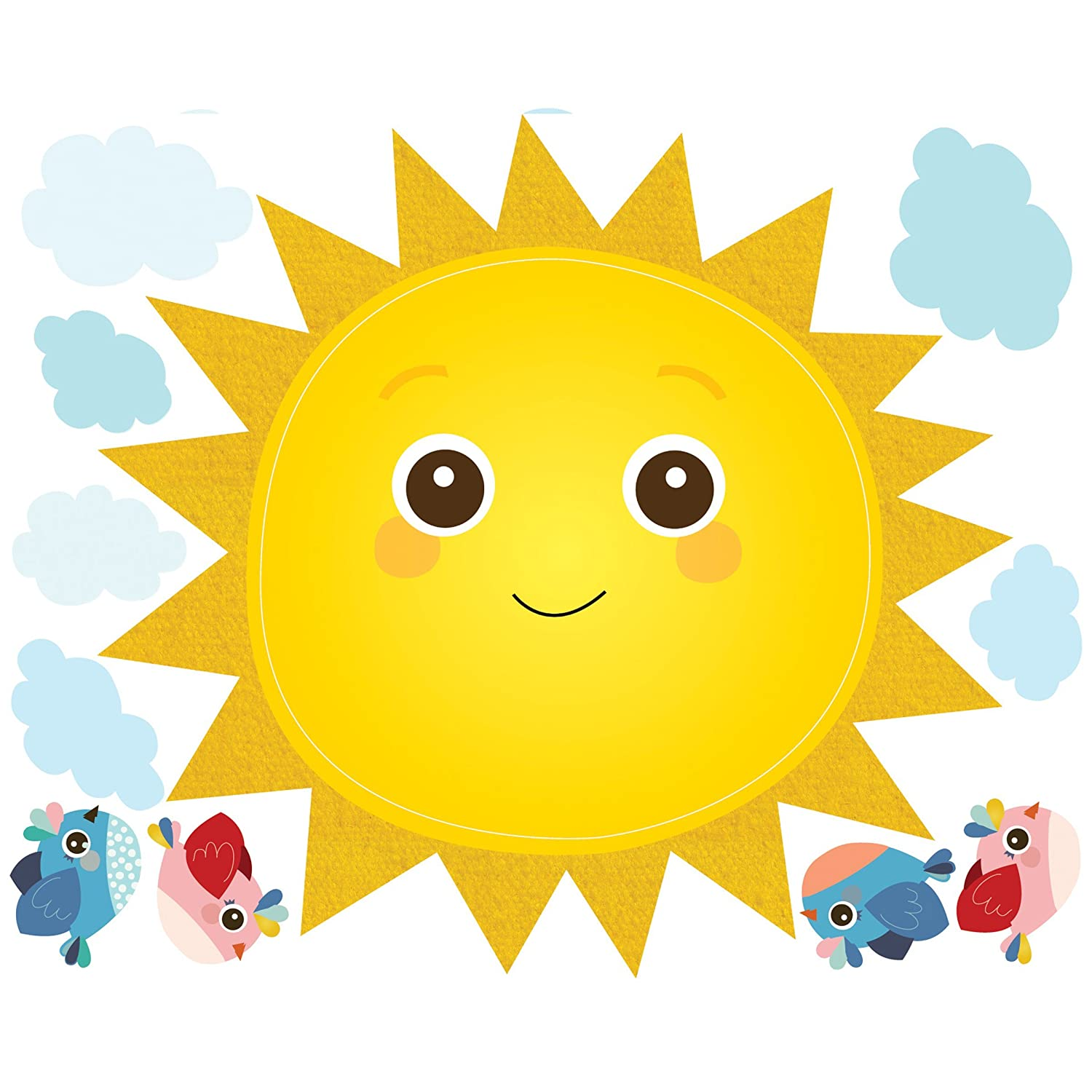 Amazon.com: Wallies Wall Decals, Baby Sunshine Wall Stickers ...