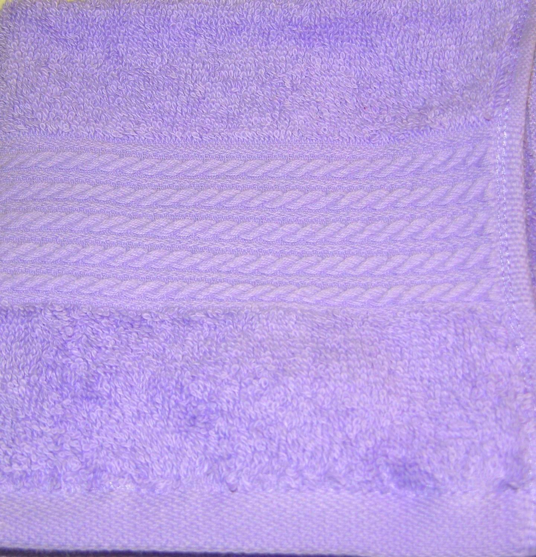 Ralph Lauren 6 piece ~ GREENWICH ~TOWEL set PANSY Light Purple; 2 Bath, 2 Hand, 2 Washcloths