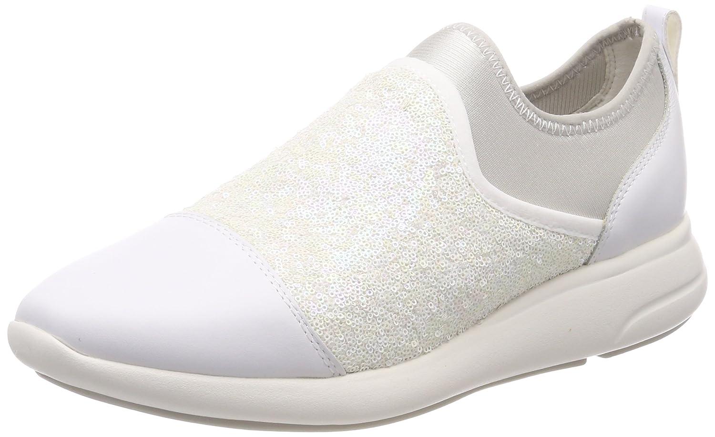 Geox D Ophira B, Zapatillas para Mujer 36 EU|Blanco (White/Off White)