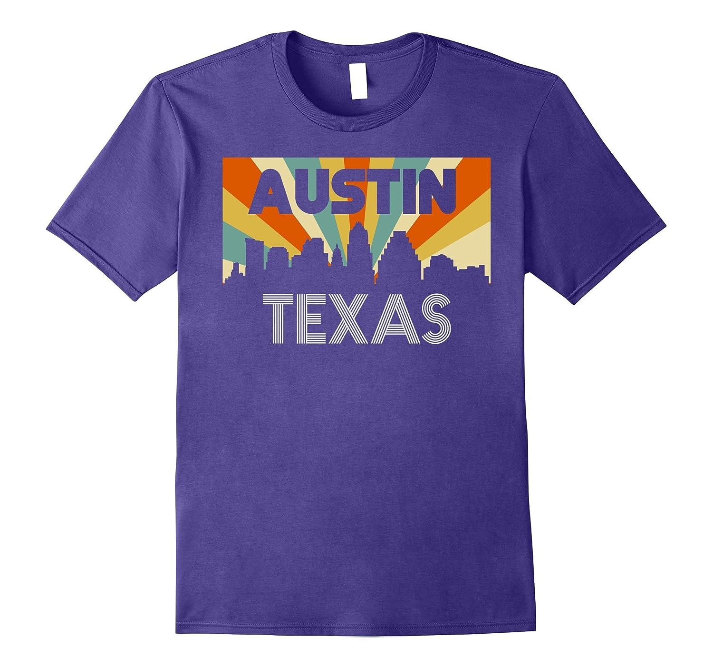 Austin City T-Shirt, Texas TX 1970s, Disco Retro Vintage Tee-FL