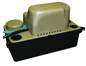 Barnes BC20S Condensate Pump with Safety Switch –1/30-HP, 110 GPH, 6' Cord, General Purpose Residential & Commercial Pump