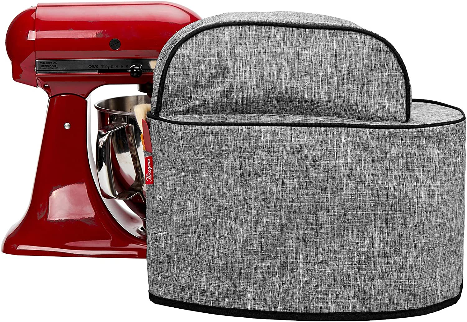 Grey NICOGENA Visible Stand Mixer Dust Cover with Pockets ...