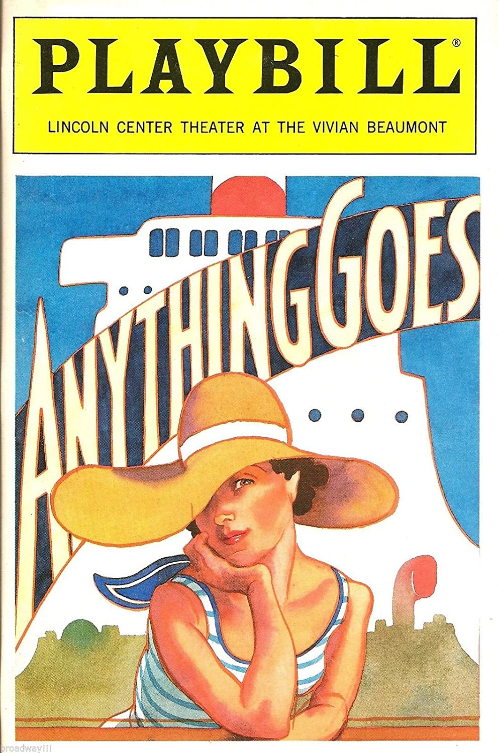 Patti LuPone 'ANYTHING GOES' Cole Porter / Howard McGillin 1989 Revival Playbill