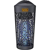 BLACK+DECKER Outdoor Bug Zapper | Electric UV Insect Catcher & Killer for Flies, Mosquitoes, Gnats & Other Small to Large Flying Pests | ½ Acre Coverage for Home, Deck, Garden, Patio, Camping & More
