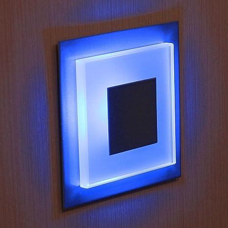 12V - 24V SUN-LED DUO apliques focos LED para escalera, escalera, pasillo, luz azul marco de ...